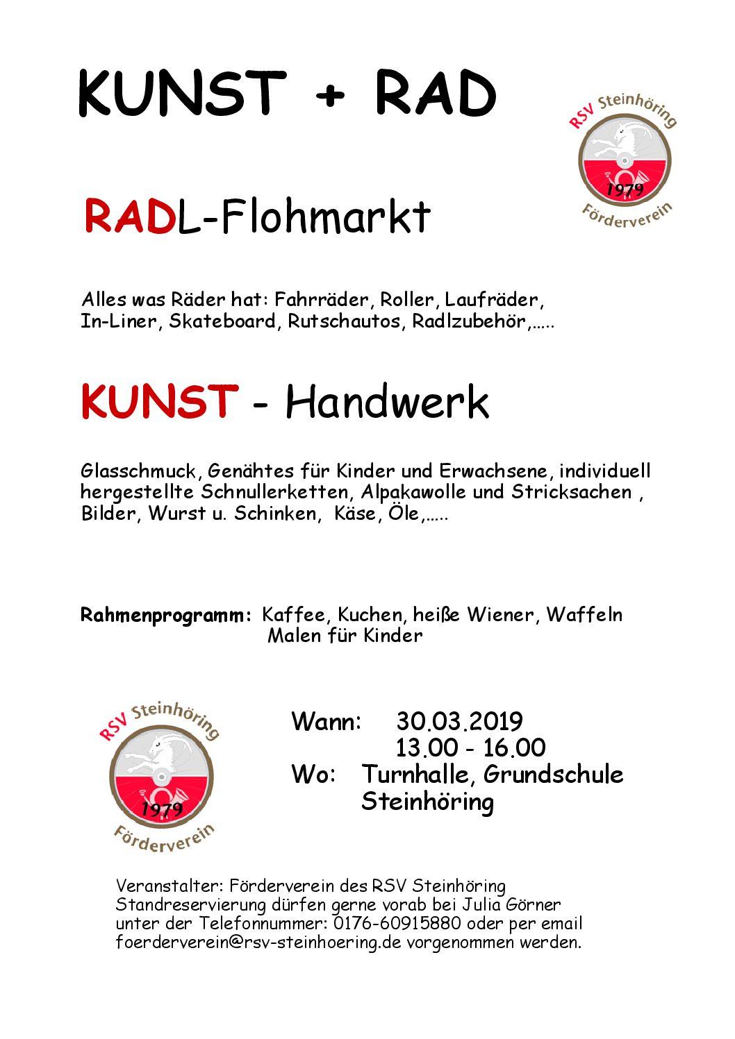 """5. Radlflohmarkt """"Kunst & Rad"""""""